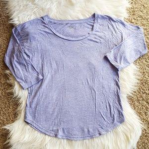 Tops - Purple 3/4-Sleeve Scoop Neck Sleep Top